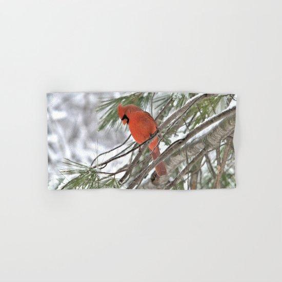 Snow Globe Cardinal Hand & Bath Towel