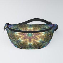 Neon - Fractal - Mandala - Kaleidoscope - Manafold Art Fanny Pack