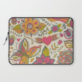 Floral Romantic Pattern 07 Laptop Sleeve
