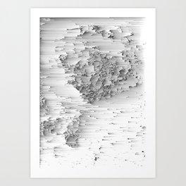 Japanese Glitch Art No.1 Art Print