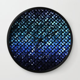 Crystal Bling Strass Blue G312 Wall Clock