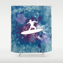 Sport, surfboarder Shower Curtain