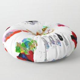 9 abstract rituals Floor Pillow