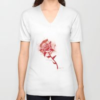 romance V-neck T-shirts featuring Romance by Sarah Churchill