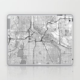 Minneapolis Map Line Laptop & iPad Skin