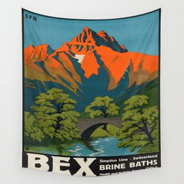 Vintage poster - Switzerland Wall Tapestry