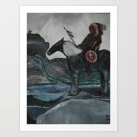Watcher Sioux Warrior Tribe Art Print