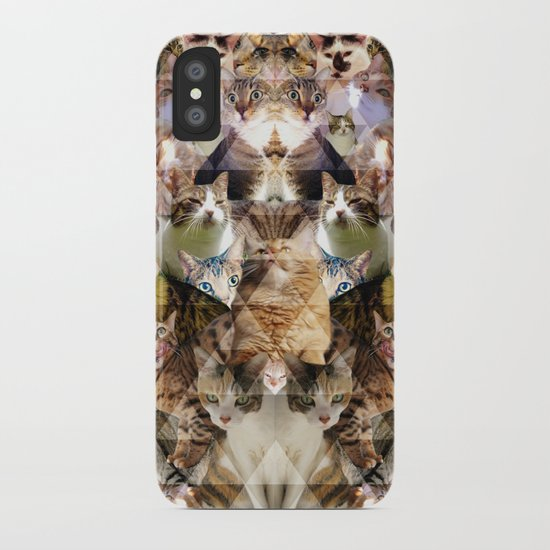 Cat Kaleidoscope iPhone Case