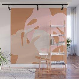 Minimal Monstera Love Duo 2 Wall Mural