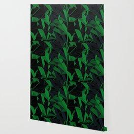 3D Futuristic Geometric Background (Green) Wallpaper