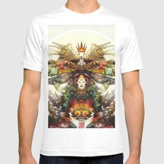 Deity SMALL White Mens Fitted Tee