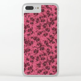 Dusty Roses Clear iPhone Case