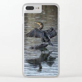 Double-Crested Cormorant Portrait Clear iPhone Case