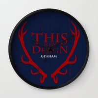 will graham Wall Clocks featuring House Graham by Alecxps