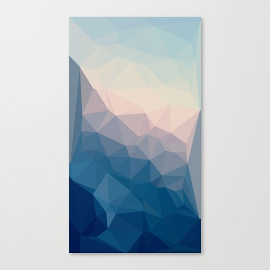 BE WITH ME - TRIANGLES ABSTRACT #PINK #BLUE #1 Canvas Print