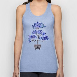 Bonsai Tree – Navy Palette Unisex Tank Top