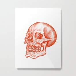 The Skull of Red Metal Print