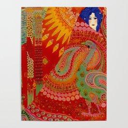 Salome (Floral Garden Landscape) 1918 aladdin tapestry by Vittorio Zecchin Poster