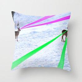 Space Deer Trip (SDT) Throw Pillow