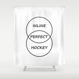 Inline Hockey Shower Curtain