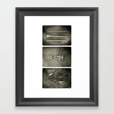 Dad used to make things (triptych two) Framed Art Print