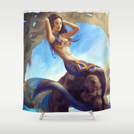 Mexican Mermaid Shower Curtain