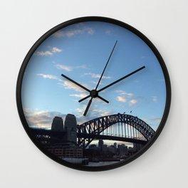 Sydney Australia harbour bridge Wall Clock