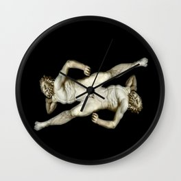 DUALITY I   -   v.black Wall Clock