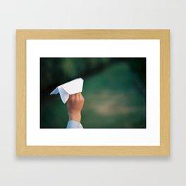 Paper plane Framed Art Print