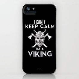 Viking Norse with Helmet and Axes iPhone Case