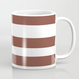 Inspired by Dunn Edwards Spice of Life DET439 Hand Drawn Fat Horizontal Lines on White Coffee Mug