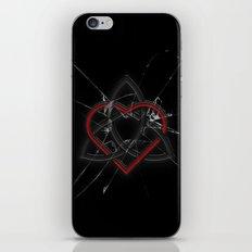 Celtic Knotwork Valentine Heart Broken Glass Texture iPhone & iPod Skin