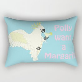 Polly want a Margarita Rectangular Pillow
