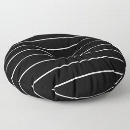 SKINNY STRIPE ((white on black)) Floor Pillow