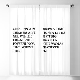 Once upon a time there was a little girl Blackout Curtain