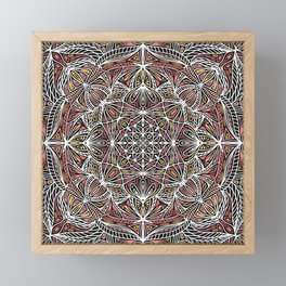 Mandala Pattern Design 20 Framed Mini Art Print