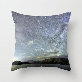 New Zealand Southern Hemisphere Skies Over Lake Wakatipu by OLena Art Throw Pillow