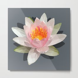 lotus flower polygon Metal Print