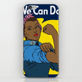 Black Rosie the Riveter iPhone Skin