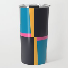 Modern Geometric 65 Blue Travel Mug