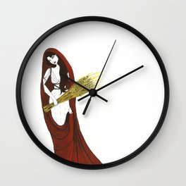 The Lady Demeter, Earth Mother Wall Clock