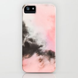 Pink and black marbled paper iPhone Case