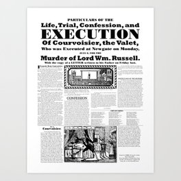 Trial and execution of Courvoisier Art Print
