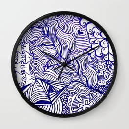 Funky Abstract Zendoodle Wall Clock