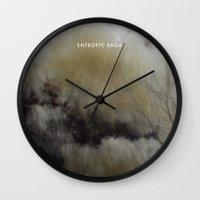 saga Wall Clocks featuring Entropic Saga by F A R I D A