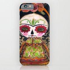 Frida The Catrina - Dia De Los Muertos Painted Skull Mixed Media Art iPhone 6s Slim Case
