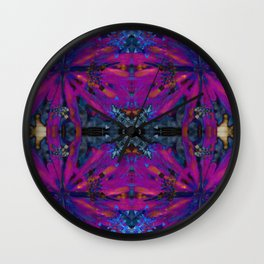 Hopi dream geometry III Wall Clock