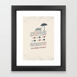 Love Actually Framed Art Print