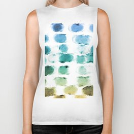 On the Beach Watercolor Painting Abstraction Biker Tank