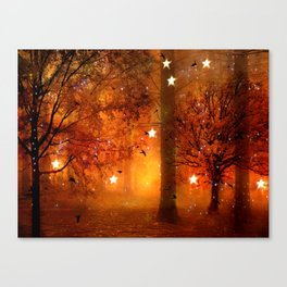 Surreal Fantasy Fairy Tale Woodlands Nature Trees Stars Print Canvas Print